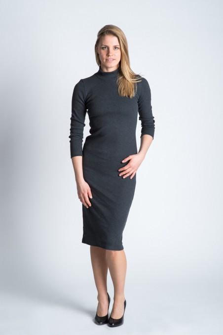 Collar Dress Graphite