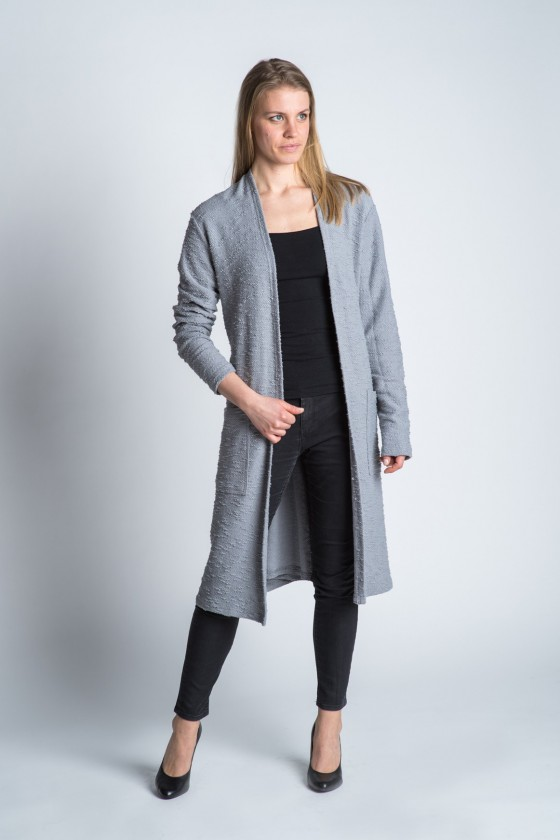 Knotty Grey Sweater