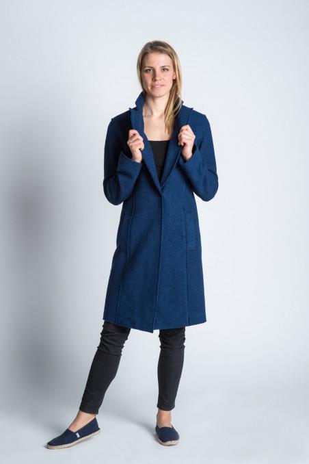 Woolen Coat Navy Blue