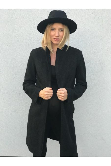Woolen Coat Black