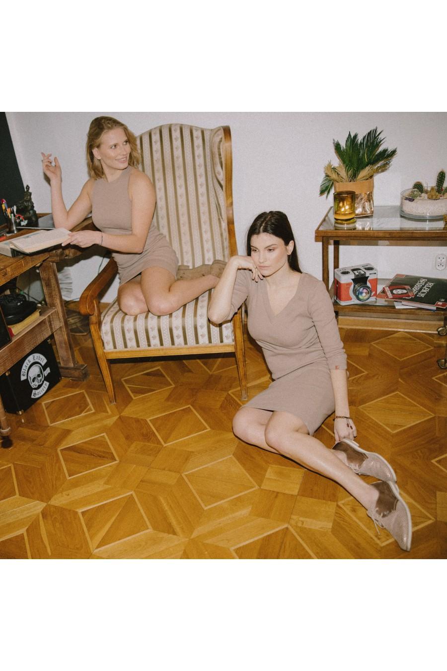 Sukienka Tuba Lato Nude