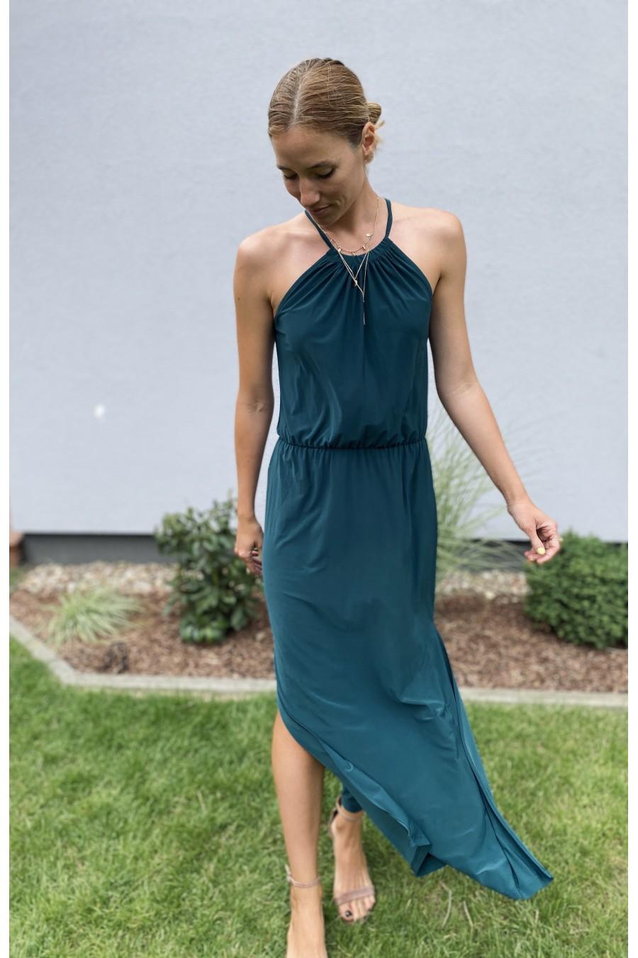 Sukienka Maxi Strap Zieleń