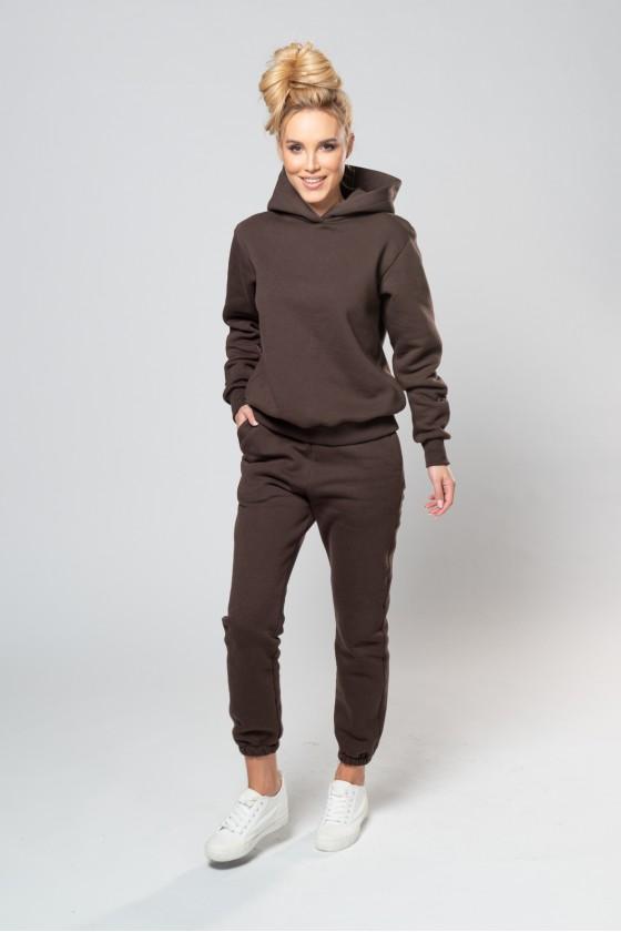 Spodnie dresowe brąz