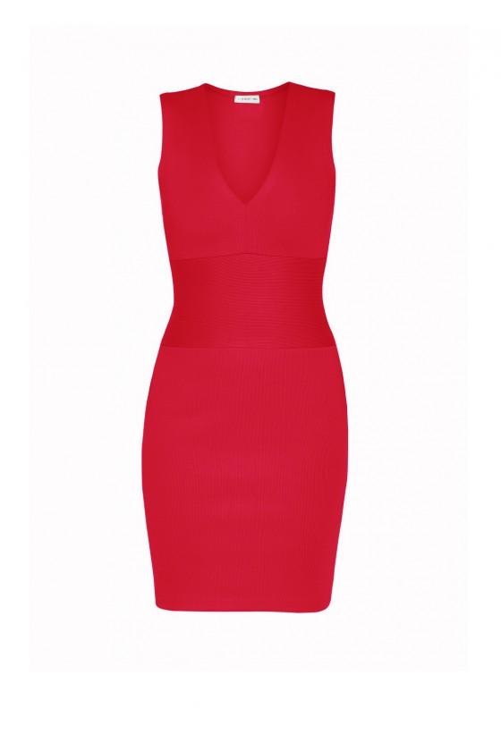 Sukienka bandażowa czerwona