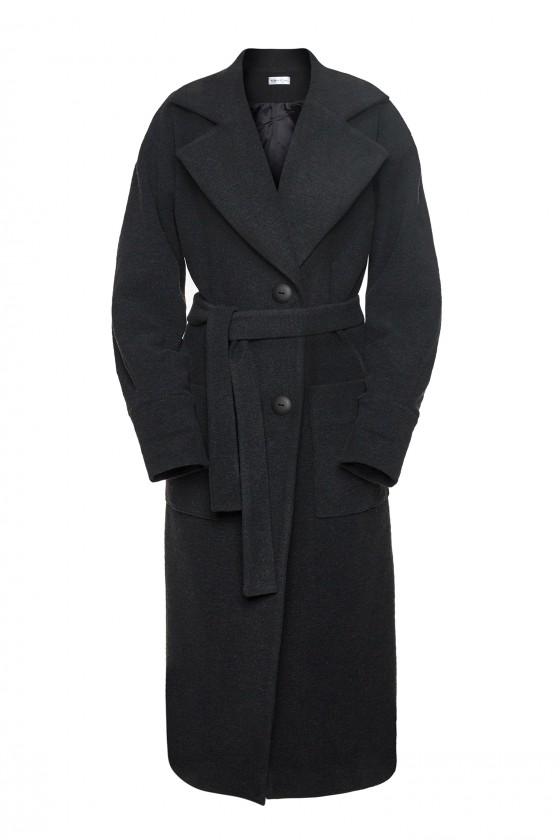 Oversize płaszcz czarny