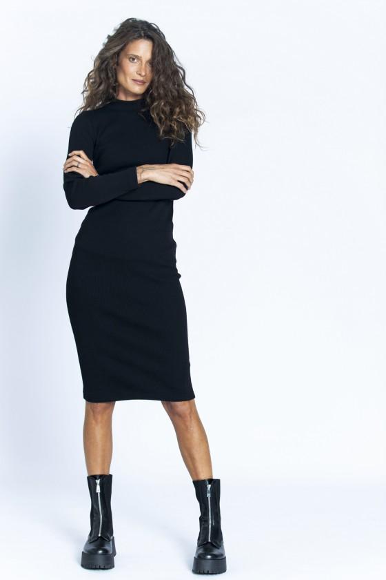 Sukienka prążek czarna