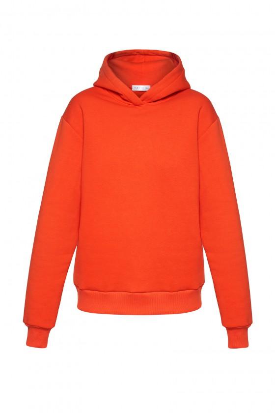 Bluza z kapturem pomarańczowa
