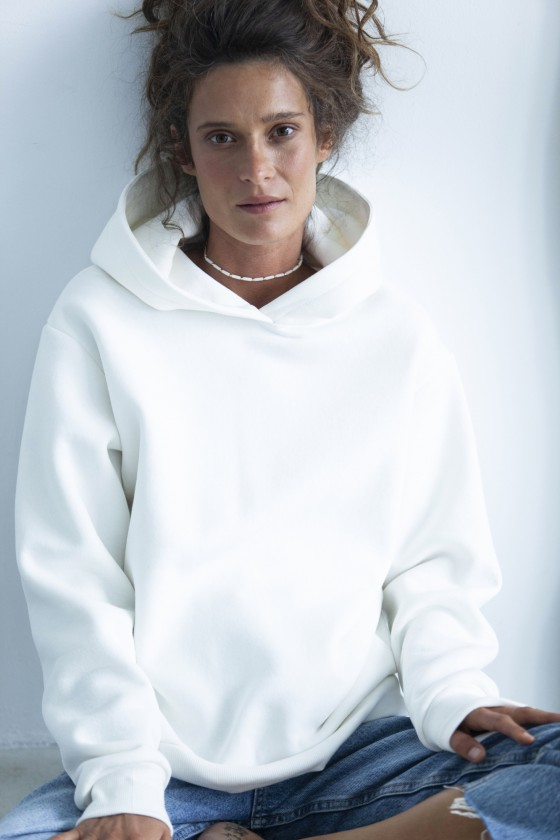 Bluza z kapturem śmietanka