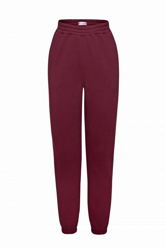 Spodnie dresowe czerwone wino