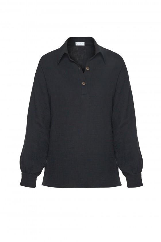 Koszula muślinowa czarna
