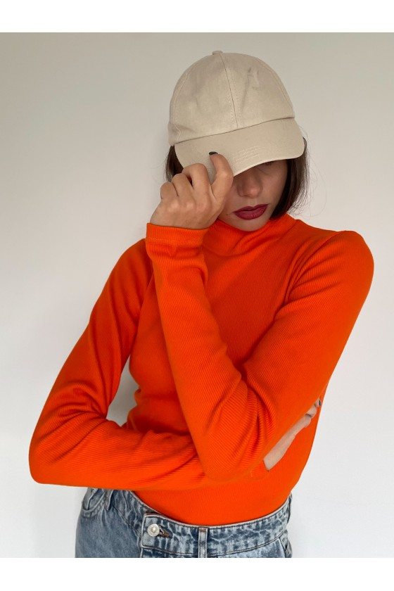 Golf prążek pomarańczowy